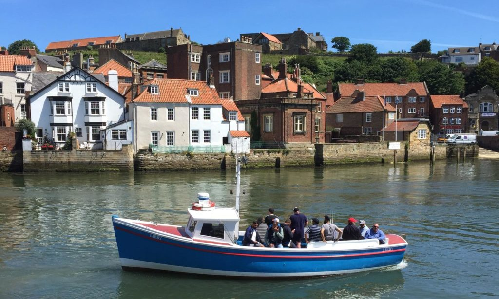 Fishing charter boat Libby in Whitby harbour